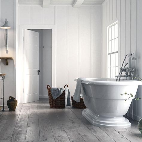 bathtub on bathroom