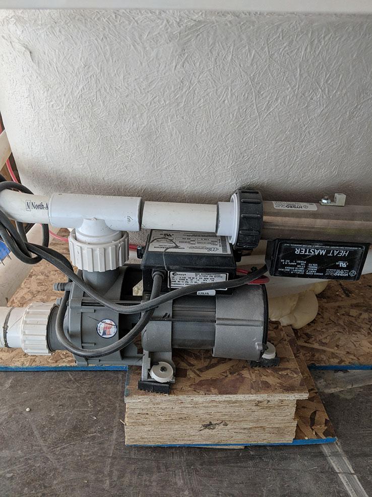 bathtub pump replaced