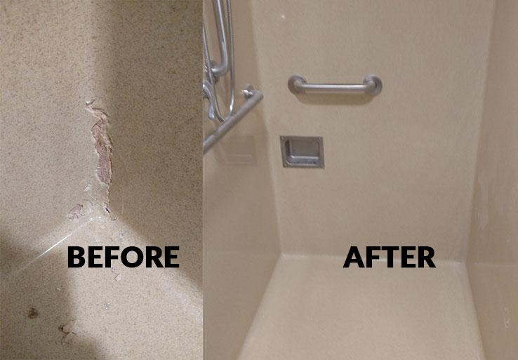 Shower crack repair