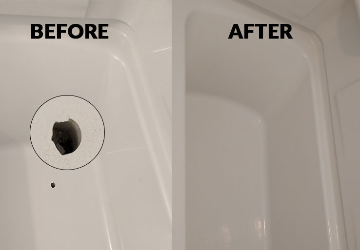 bathtub chip repair before and after